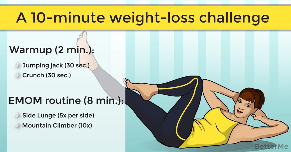 A 10-minute weight-loss challenge