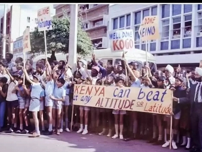 Throwback how Kenya's athletics team was welcomed home after 1968 Olympics