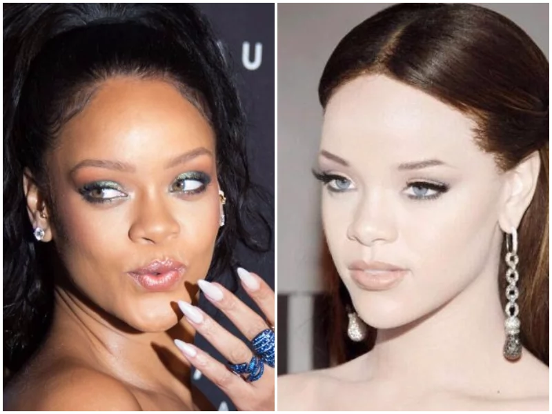 Isn't she pretty enough? Images portraying singer Rihanna as white sparks total rage on social media
