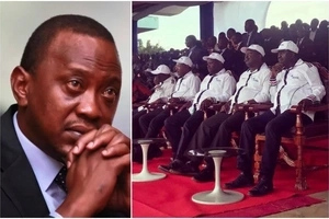 Uhuru Kenyatta addresses a parallel briefing as NASA prepare to unveil their flagbearer