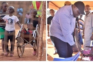Photos of boys wheeling their disabled friend to a football match has melted hearts including Jubilee senator Sakaja