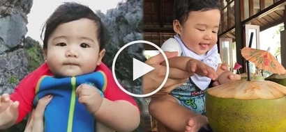 Baby Seve makes the most out of his trip to Siargao in the cutest ways possible