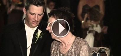 Ella no podía moverse para bailar el vals en la boda de su hijo, hasta que éste hizo algo sorprendente y conmovedor