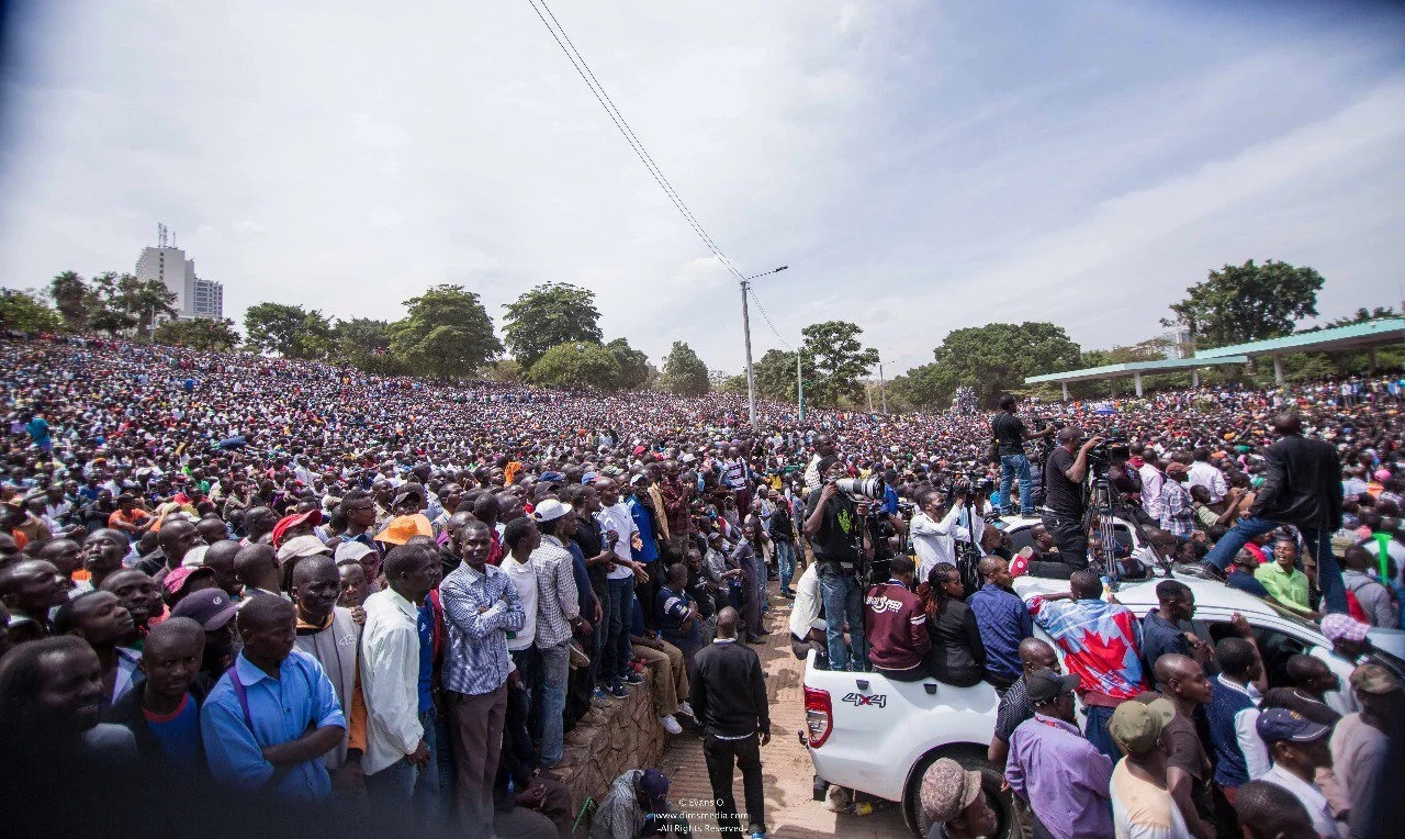 We have arrived in Canaan - Raila thanks supporters for gracing his swearing-in