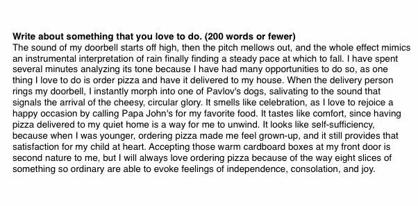 Essay about pizza got this girl accepted at Yale University! She even received 1-year's worth of pizza supply from Papa John's!