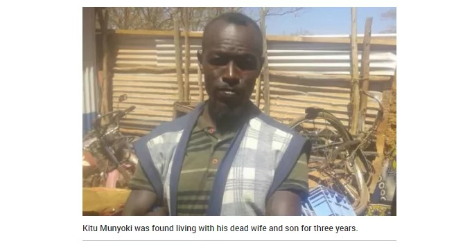 The bizzare story of a Kamba man who lives on snakes, dogs and his wife's corpse
