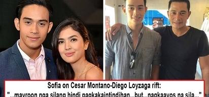 Sa wakas, nagbati ang mag-ama! Sofia Andres' reveals loveteam partner Diego Loyzaga and father, Cesar Montano, had already patched things up
