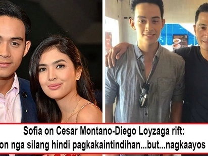 Sa wakas, nagbati ang mag-ama! Sofia Andres' reveals loveteam partner Diego Loyzaga and father, Cesar Montano, had already patched things up