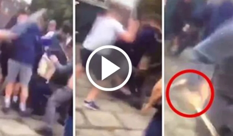 Batalla campal: Impactante video muestra a 100 jóvenes peleando con bates