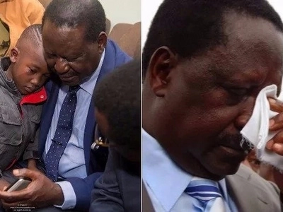 Late Msando's son, 6, leaves Raila, Orengo in tears with emotional question
