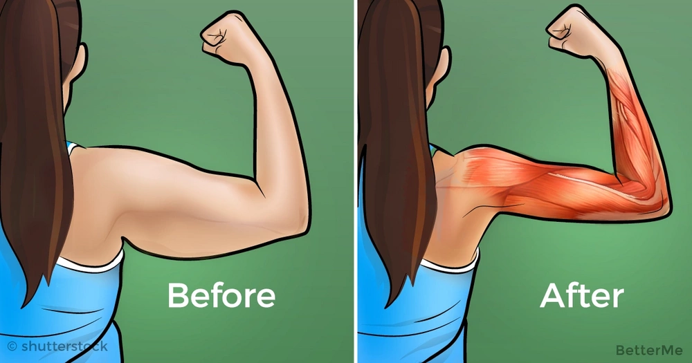8 moves to target arm fat for women over 40 years old