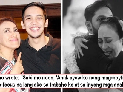 Ai-Ai's son fondly recalls time mom gave up on love in his touching after wedding message, 'Anak ayaw ko nang mag-boyfriend'