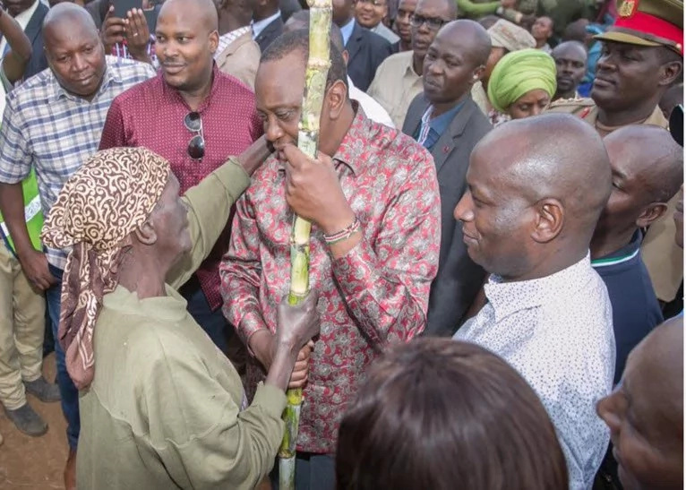 Kenyans online believe Uhuru's silk shirts are indirectly connected to his down to earth appearances