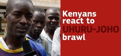 Exclusive: Kenyans react to brawl between Uhuru and Joho (video)