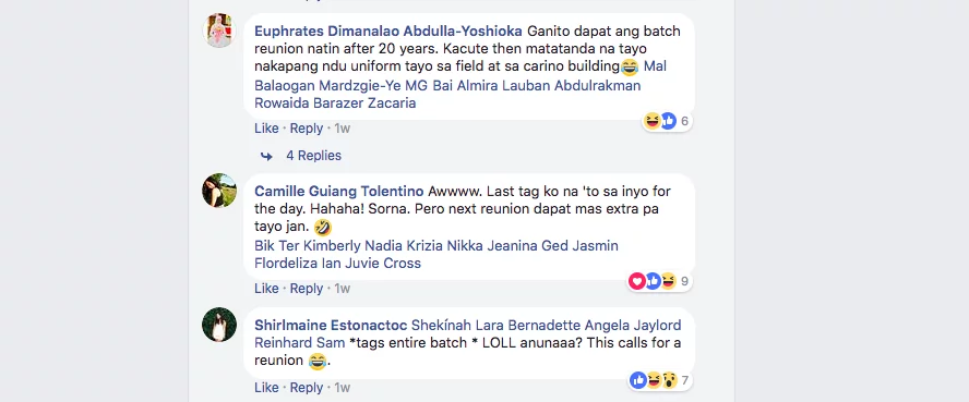 Ang extra nina mommy! High School Batch of '82 reunite in their old school uniform in viral photos
