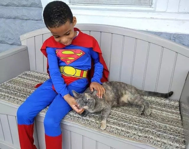 He dons superhero outfits sometimes. Photo: The Dodo