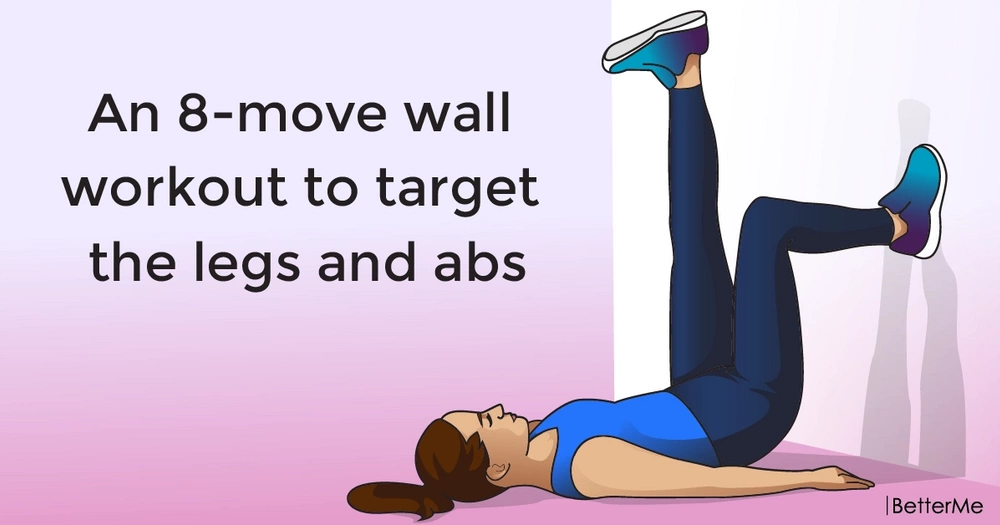 An 8-move wall workout to target the legs and abs