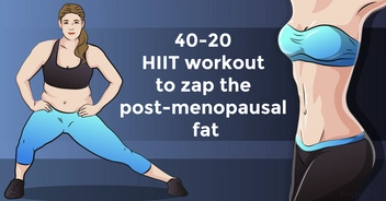 Effective 40-20 high-intensity interval training workout to zap the post-menopausal fat