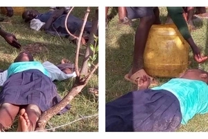 Students left suffering after police use teargas in Uhuru's campaign (photos)