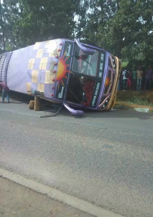 Tens injured after Climax Coaches' bus overturned on Waiyaki Way