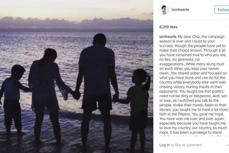 READ: Heart's emotional message to Chiz