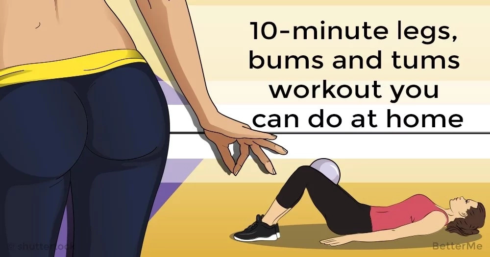 10-minute legs, bums and tums workout you can do at home