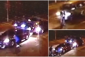 Insane moment Chinese man hit by three cars in a row and survive