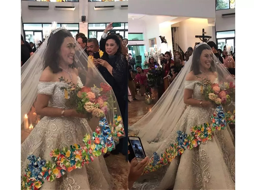 Bongga Ang Gift Ai Ai Delas Alas Elegant Wedding Gown Is A Gift From Marian Rivera KAMICOMPH