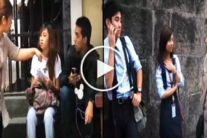 Wow Mali! Pinay prankster scolds innocent students and accuses them of cutting classes