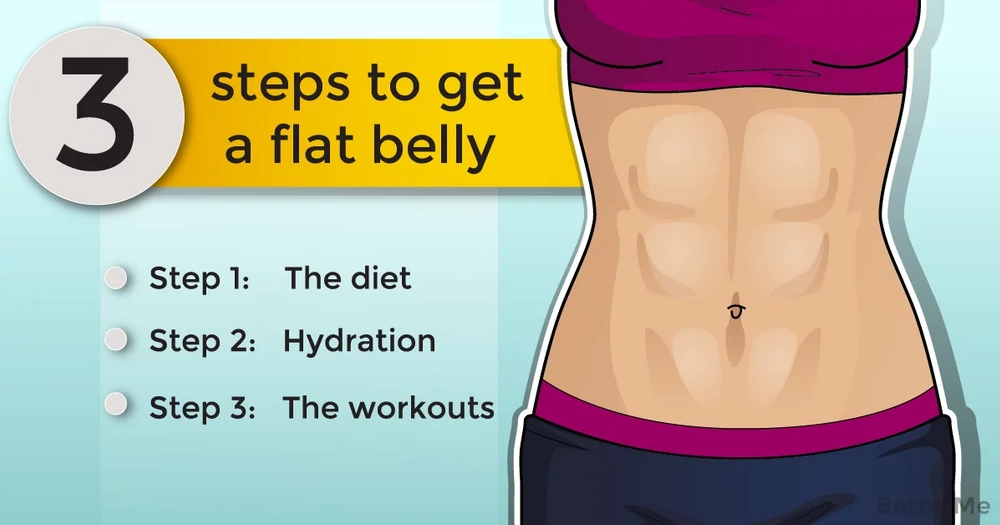 3 steps to get a flat belly
