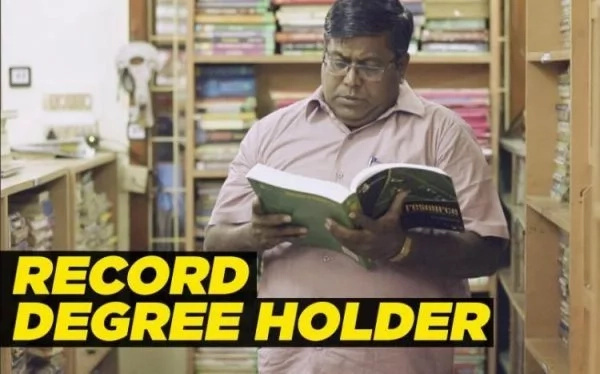 Professor Parthiban holds 145 degrees. Photo: History Channel