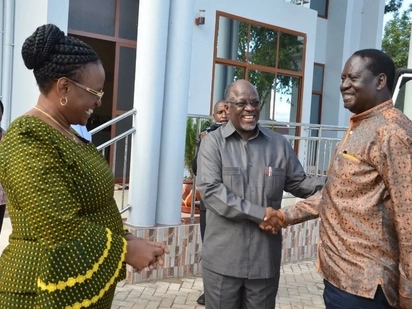Raila akutana na Magufuli huku nderemo za kumwapisha Uhuru zikikaribia