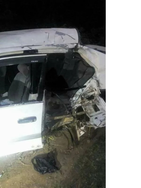 Photos from the accident that killed Churchill Show comedian Ayeiyaa