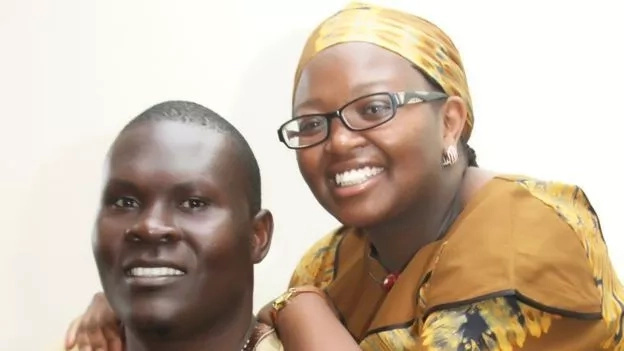 George Obiero and Millicent Wanjiru. Photo: BBC