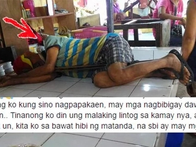 "Tulungan po si Tatay Sadam! Netizen makes an appeal to DSWD Taal to help old man constantly beaten by ""tambays"" at market"