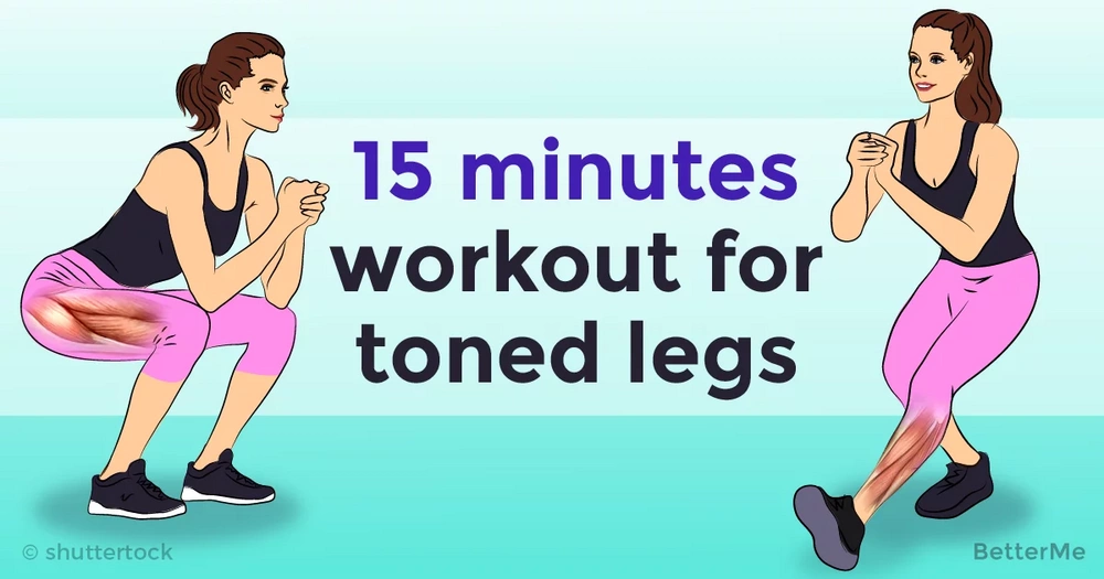 Complex 15 minutes workout for toned legs