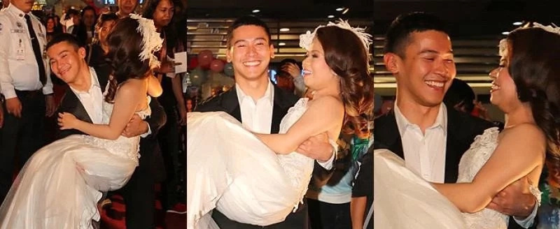 WATCH: Enchong sweeps Kiray off of her feet