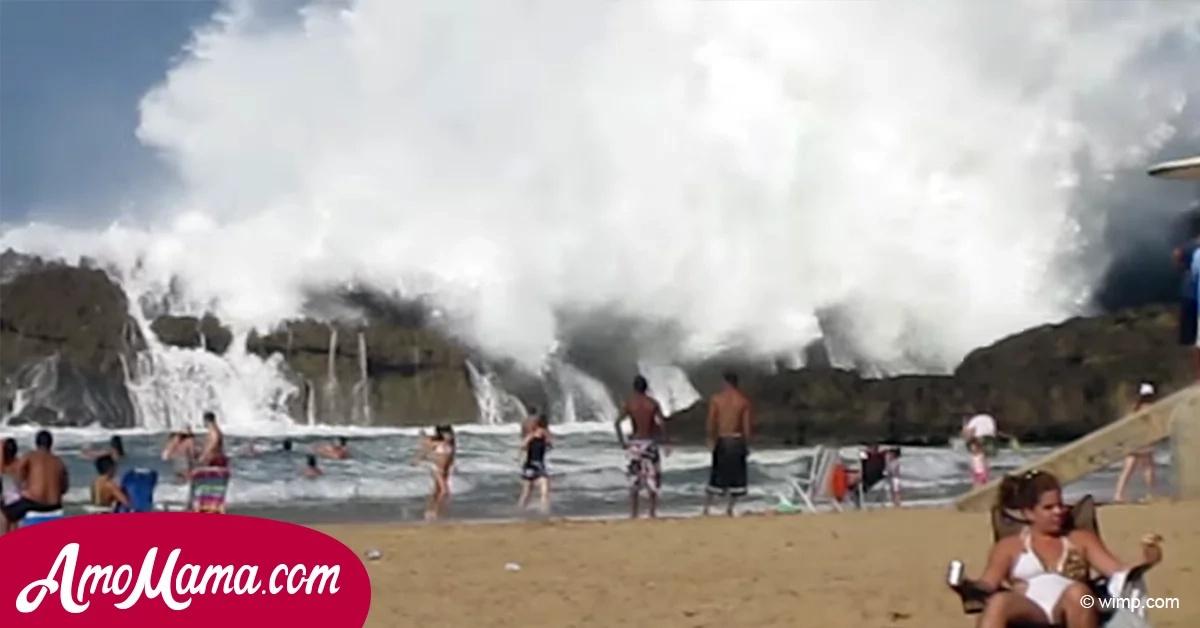 La gente descansaba tranquilamente en la playa. Pero, de repente, algo terrible sucedió