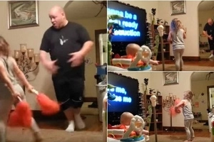 Mom puts hidden camera in living room and catches dad doing this with their children (video)