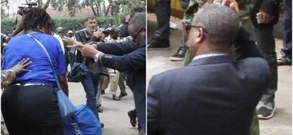 Kamanda wa Polisi Nairobi asongwa mangumi makali na mama mwenye hasira (Picha)