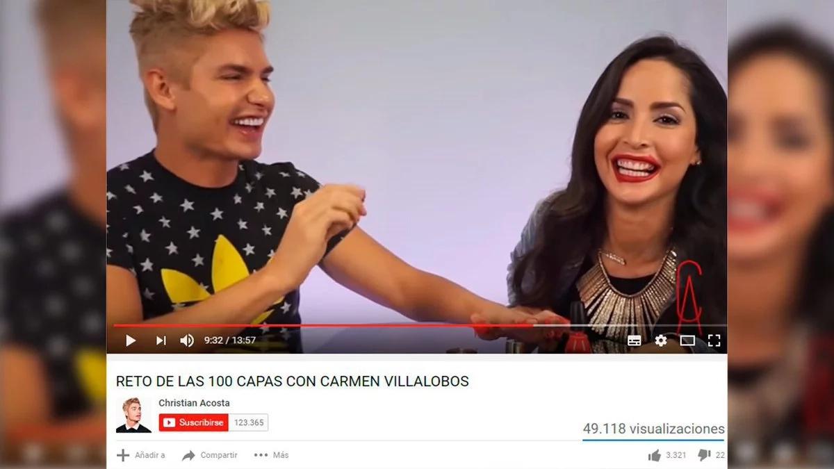 Carmen Villalobos y el reto de las 100 capas de maquillaje