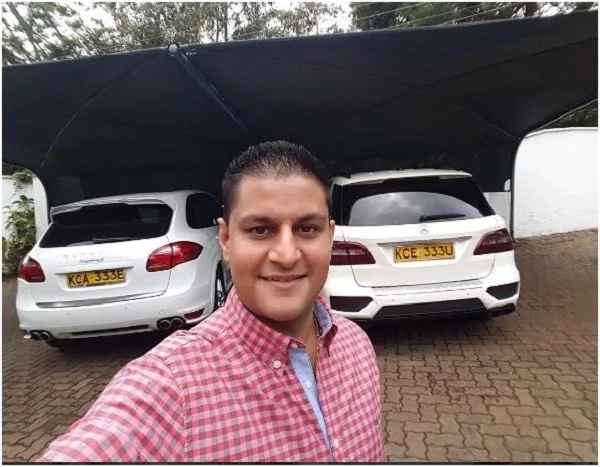 Betty Kyalo's new-found billionaire friend show off the expensive cars in his parking (photos)