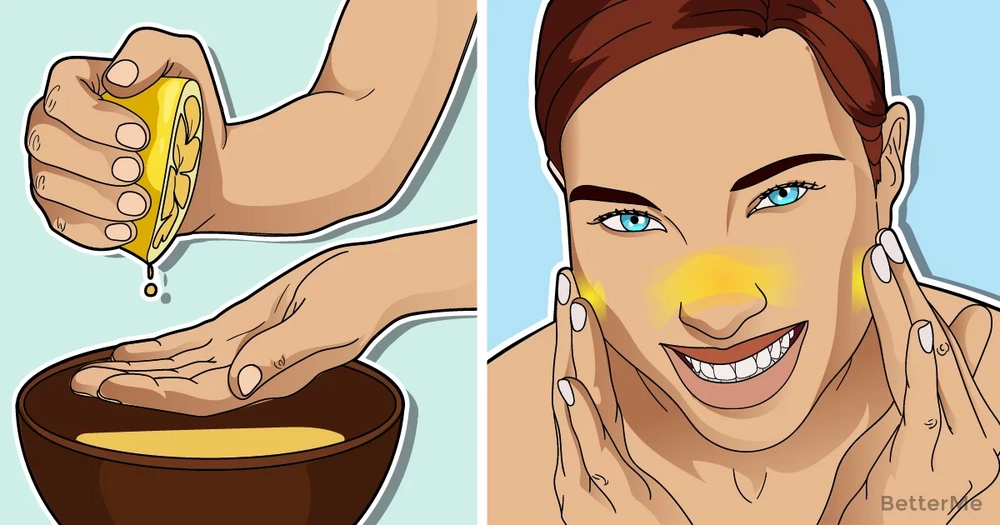 Benefits of lemon juice on the face