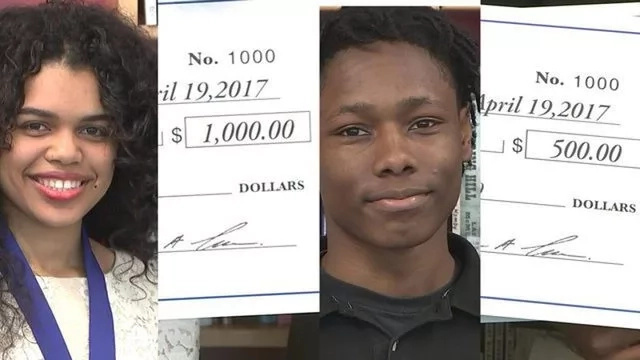2 students who were once homeless get scholarships to college