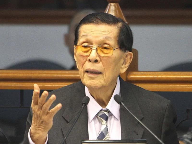 Juan Ponce Enrile bids goodbye to public service