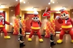 Sorry po! Jollibee apologizes for sensual Versace on the Floor dance of mascot while kids were watching!