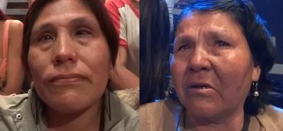 Madre e hija estuvieron sentadas lado a lado todo el tiempo sin reconocerse tras años de separación