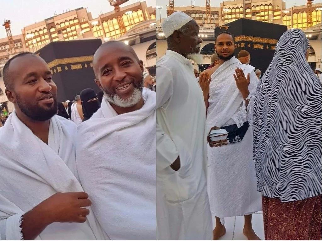 Pata kujionea picha za kipekee za Gavana Hassan Joho wa Mombasa na mwanaye wakiwa jiji takatifu la Mecca
