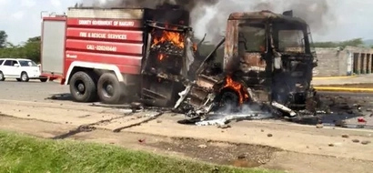 In Photos: How Protesters Burnt Down Nakuru's Only Fire Engine