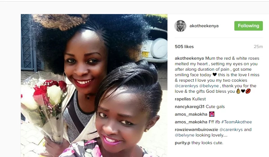 Akothee gets lovely message from her kids